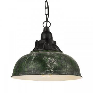 Grantham 1 Κρεμαστό Μεταλλικό Vintage Φωτιστικό  - Πράσινο