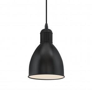 Priddy Κρεμαστό Μεταλλικό Φωτιστικό - Μαύρο, Λευκό