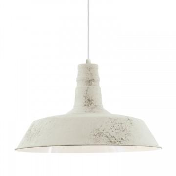 Somerton 1 Κρεμαστό Μεταλλικό Φωτιστικό - Λευκό, Ασβεστή