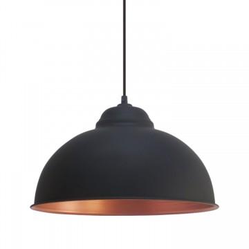 Truro 2 Κρεμαστό Μεταλλικό Φωτιστικό - Μαύρο, Χαλκός