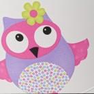 Hesperis Kids Κρεμαστό Παιδικό Φωτιστικό - Owl Lilac