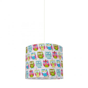 Hesperis Kids Κρεμαστό Παιδικό Φωτιστικό - Owls