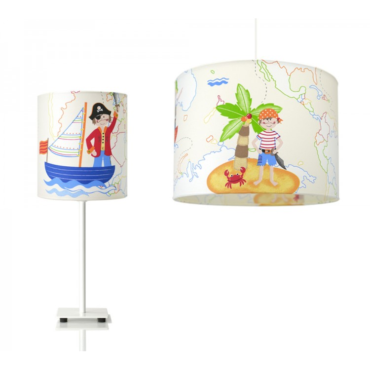 Kids Light Set - Κρεμαστό φωτιστικό και πορτατίφ Pirates